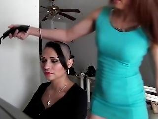 Slave women haircut shaved