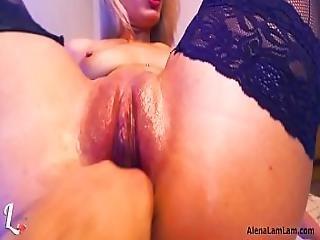 Fisting And Squrting Orgasm - Alena Lamlam - Webcam - Show 4 Part 3