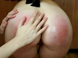 Lesbian Blonde Babe Is Bound And Gets Spanked And Vibed