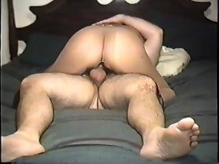Riding White Cock For A Creampie