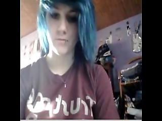 Emo Girl Plays On Cam - Allcamgirls.net
