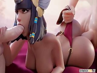 Horny Big Tits Widowmaker From Overwatch Gets Drilled In Her Pussy From Behind And In Other Sex Positions Too