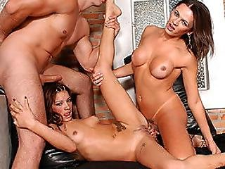 Petite Wife Nailed By Husband And Tranny