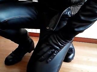 Leather Pants And Boots