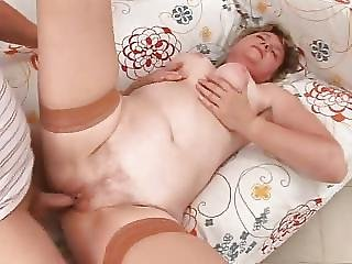Granny In Nylons Craves Penis