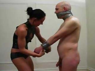 Man Taped Gagged By Woman And She Tortures A Man