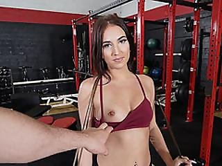 Gf On My Big Cock At Gym