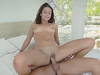 Young Izzy Bell Bouncing On Hard Dick And Having One Orgasm After Another