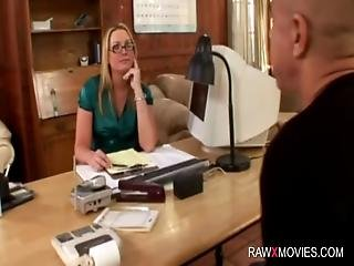 Hot Workplace Interracial Action