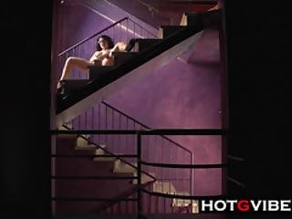 Playing With Pussy In The Staircase