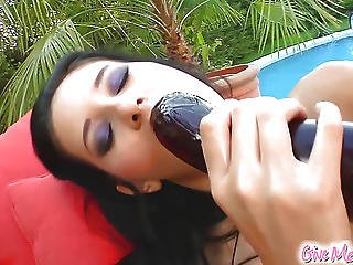 She Shows Her Slender Figure Before Fingering Her Tight Pussy