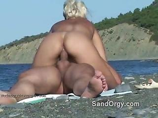 Sand In The Lube Swingers Beach Sex
