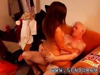 Skinny Hairy Old Woman Latoya Makes Clothes, But She Loves Being Naked