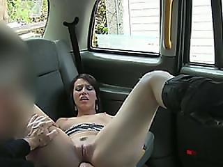 Neighborhood Brunette Skank Gets Her Pussy Licked And Fucked Hard
