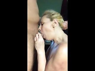 Hardcore Blonde Blows Dick