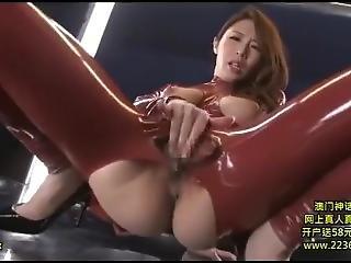 arsch, fetter arsch, gross titte, brünette, catsuit, fetisch, japanisch, latex