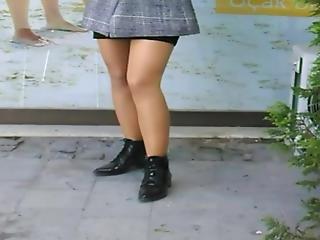 Mini Skirt And Pantyhose