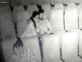 Indian Girl Blowjobs Her Lover Caught In Theater