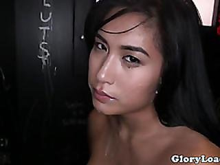 Cum Loving Gloryhole Amateur Sucks Dick