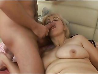 Granny Gets Anal Fucked By A Strang