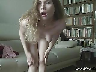 Gorgeous Schoolgirl Loves To Strip And Masturbate