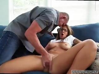 Teen Gets Fucked Hard By Step Dad!