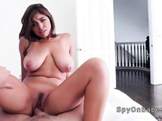Huge Natural Tits Roomie Caught Masturbate