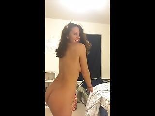 Brunette Loves To Strip