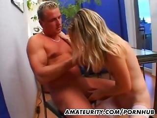 Hot Blonde Amateur Girlfriend Action With Cum In Mouth