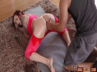 Amber Ivy In Morning Yoga Anal