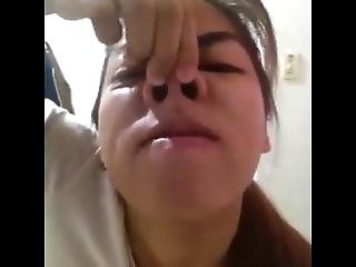 Filipino Slut Nose Play