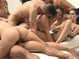 Fit Babes Suck And Fuck In An Orgy After A Hard Workout
