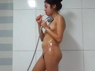 Ugly Korean Slut Bathing Show