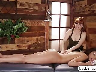Masseuse Carmen Caliente Enjoys Lick Penny Pax Wet Pussy