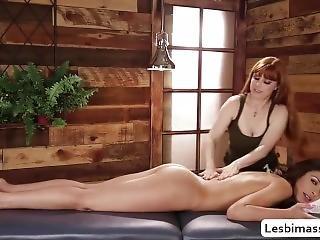 Masseuse Carmen Caliente Enjoys Lick Penny Pax Wet Pussy
