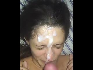 amatorski, kociak, obciąganie, kompilacja, wytrysk, twarz, stymulacja wacka dłonią, masturbacja, Nastolatki