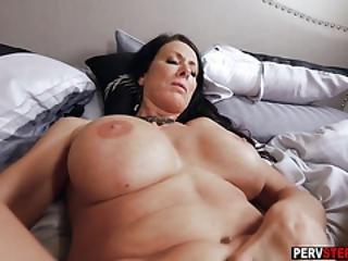 røv, stor cock, stort bryst, blowjob, fed, liderlig, matur, milf, mor, pov