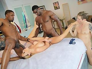 Olivia Austin Interracial Threesome - Cuckold Sessions