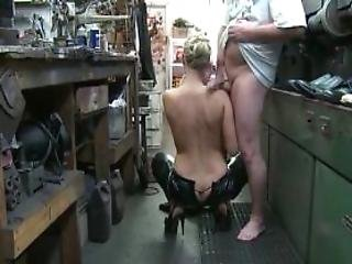 Blonde Tempting Milf Pussy Nailed From Behind At Work