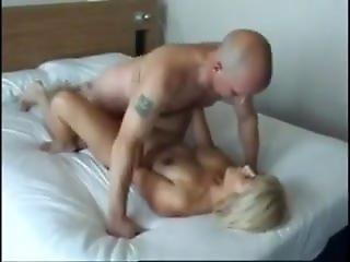 Sexy British Blonde Milf Takes Four Cocks