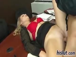 Slim Secretary Fucks For A Facial