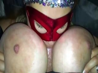 Husbands Friend Tittie Fucks His Wife And Cums All Over Her Big Breasts%21