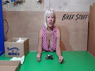 Hot Youtuber Biker Stuff - Awesome Cleavage