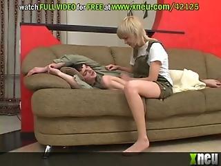 Kinky Blonde Teen Milks His Boyfriend S Big Dick
