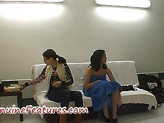 Sexy Photoshoot And Dance In Backstage