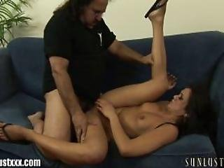 Ron Jeremy Checks Under Cece Stones Skirt And No Panties