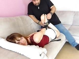 arte, bondage, morena, audição, fetishe, francesa