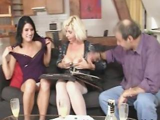 Hot Threesome Old Couple With Teen