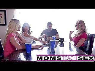 Momsteachsex - Hot Mom And Teen Friends Orgy Fuck With Neighbor