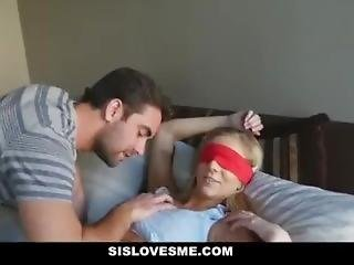 Annoying Step- Sis Takes Two Huge Cocks